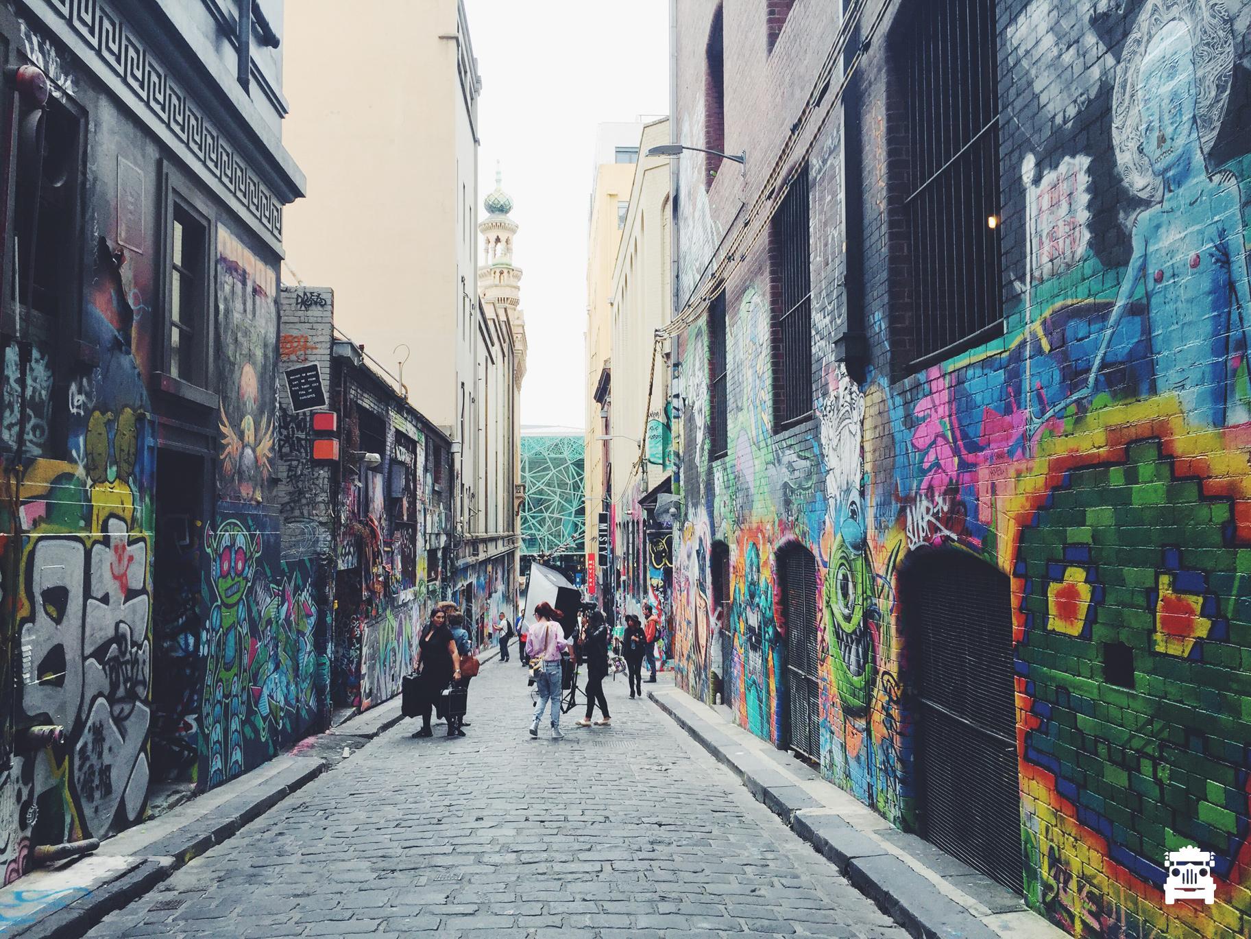 The famous Hosier Lane