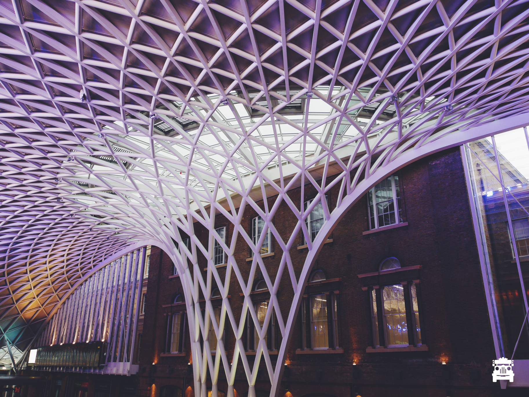 Amazing structure within King's Cross Station