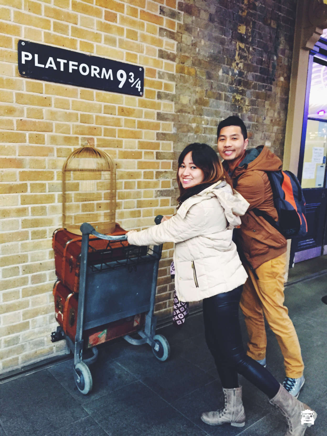 Harry and Hermione off to Hogwarts ;)