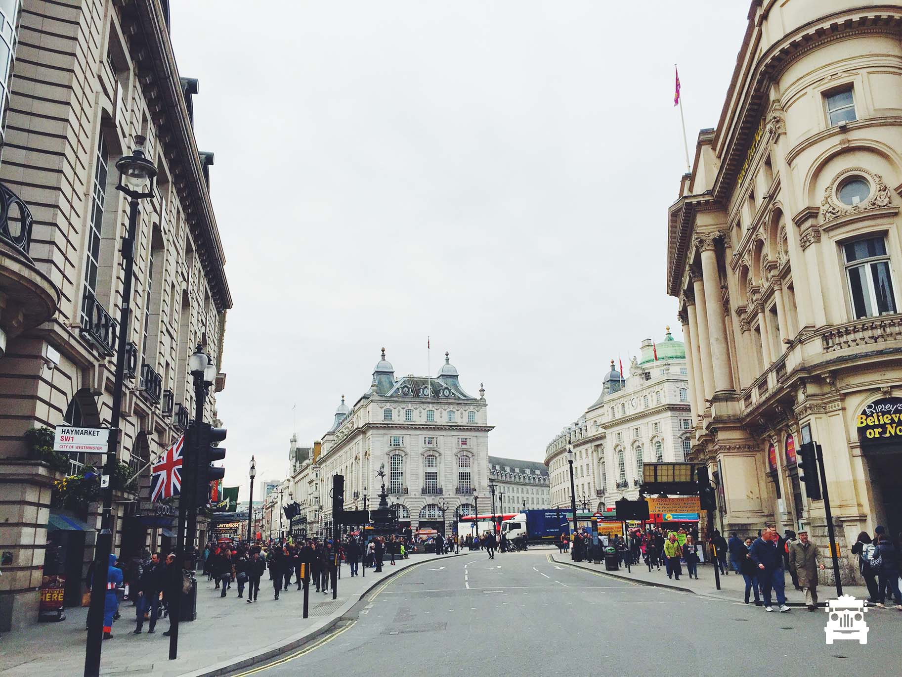 One of the nicest parts of London we thought, Picadilly Circus