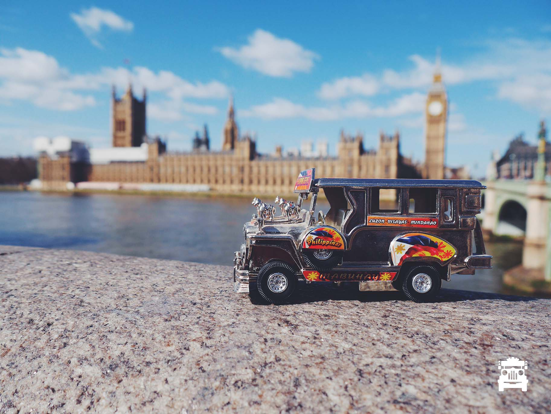 The jeep made it to Westminster Palace