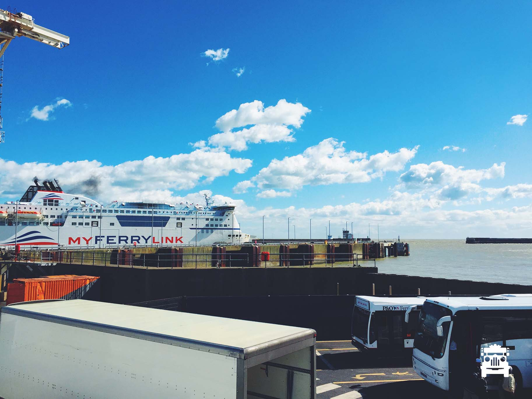 Our ferry at Dover Port