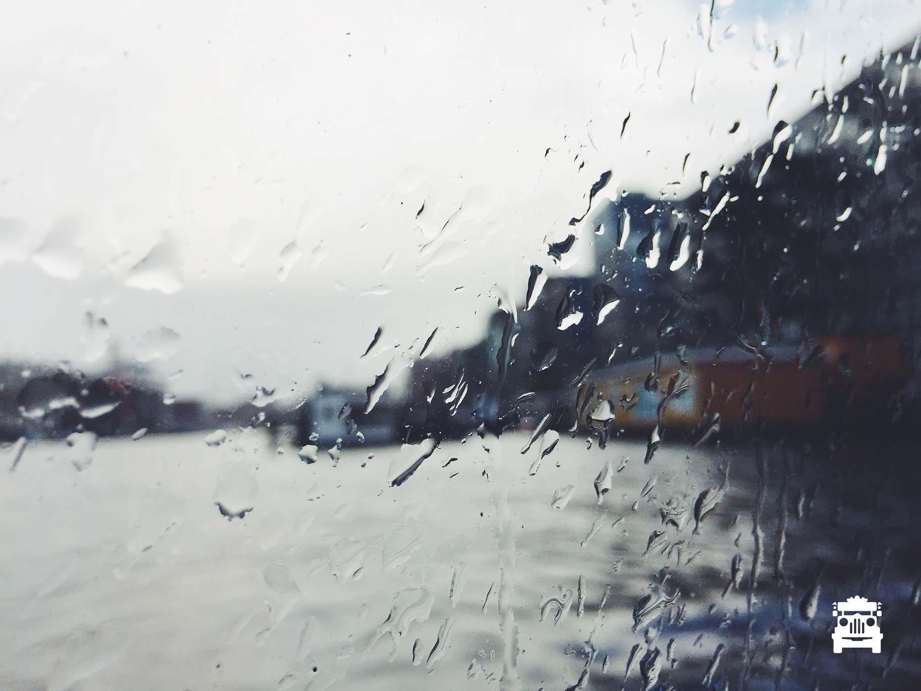 Then it rained.