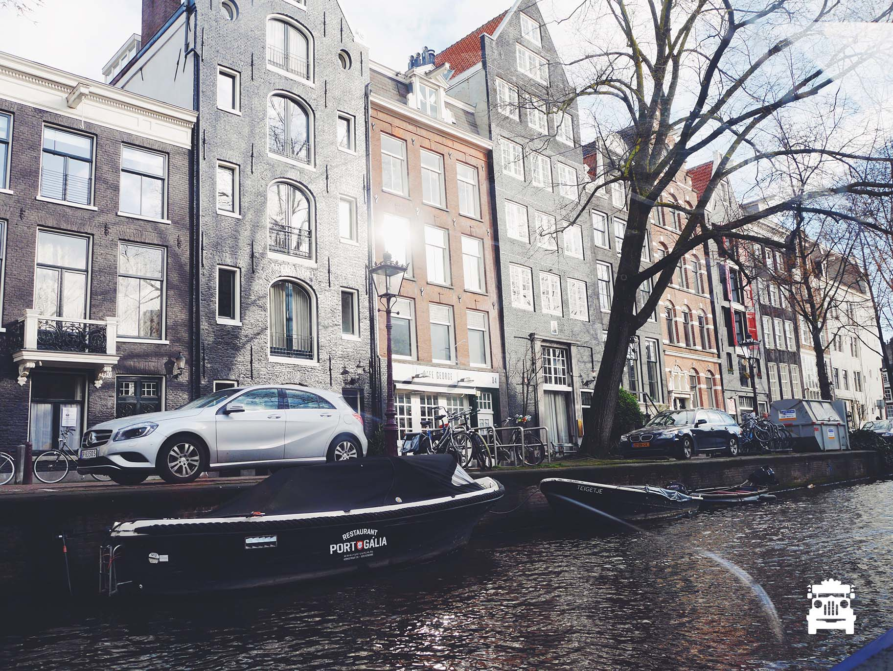 The leaning buildings of Amsterdam