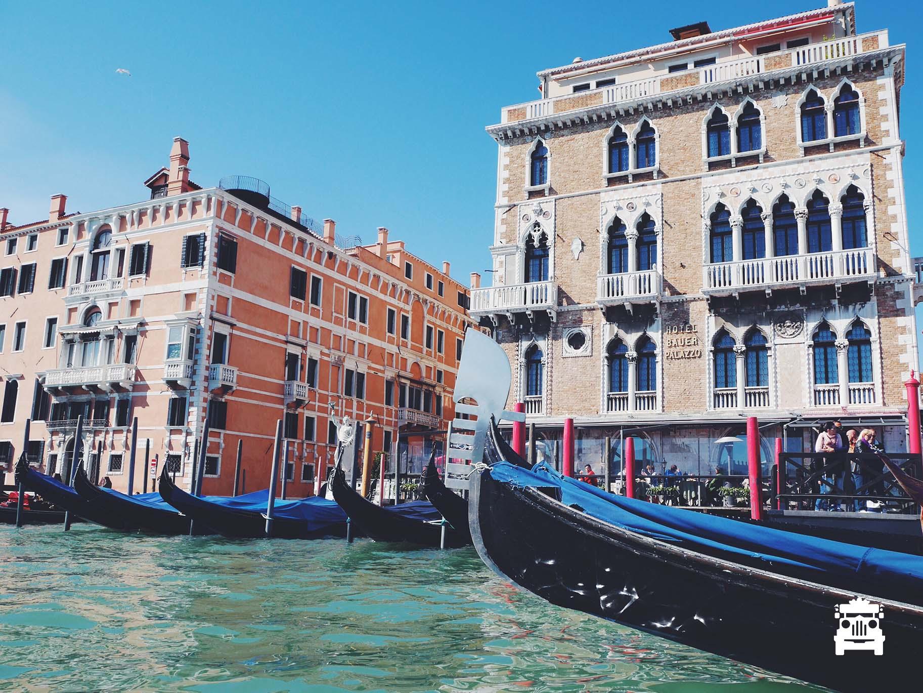 Gondolas on the shore
