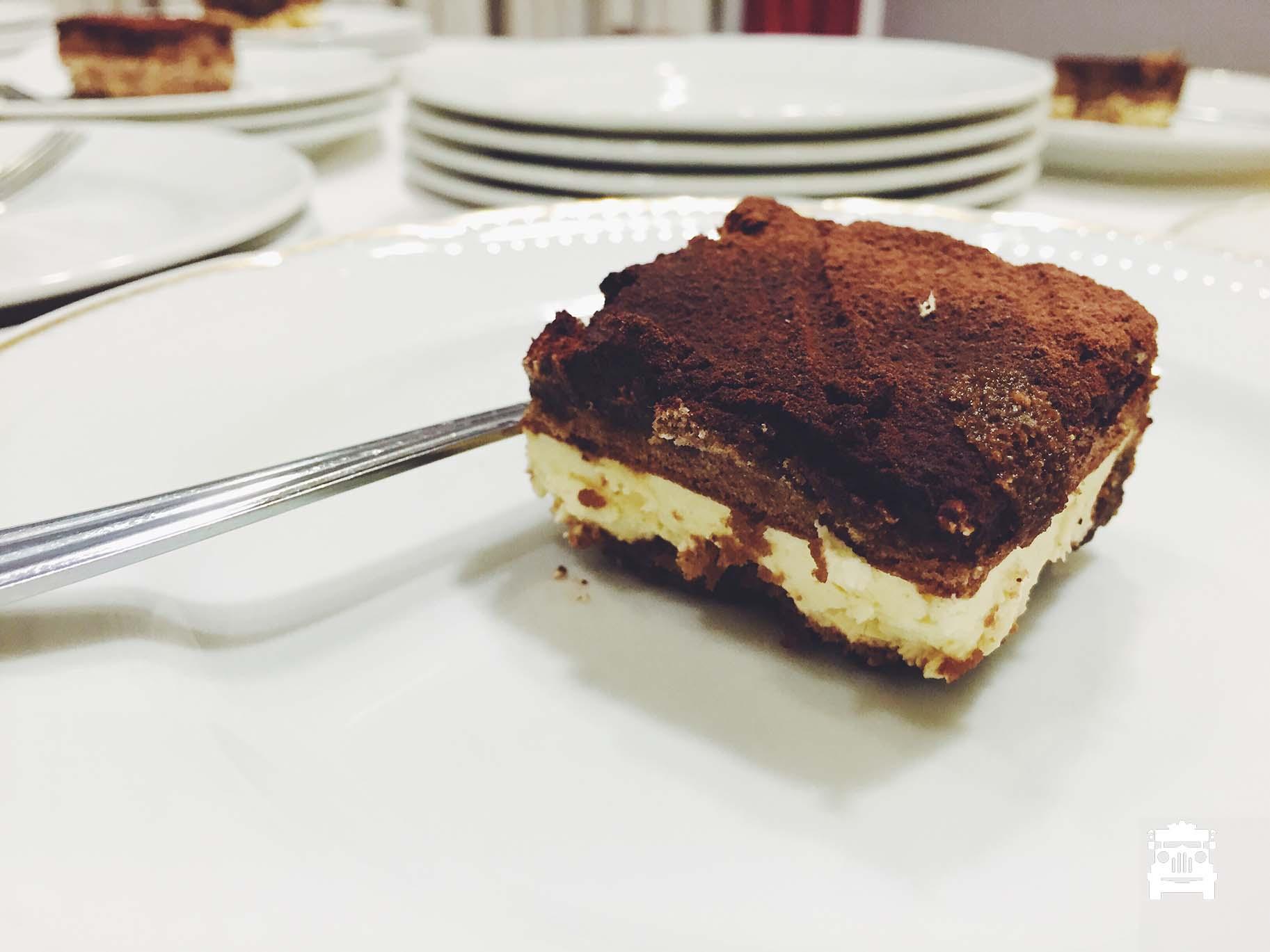 Tiramisu was delicious