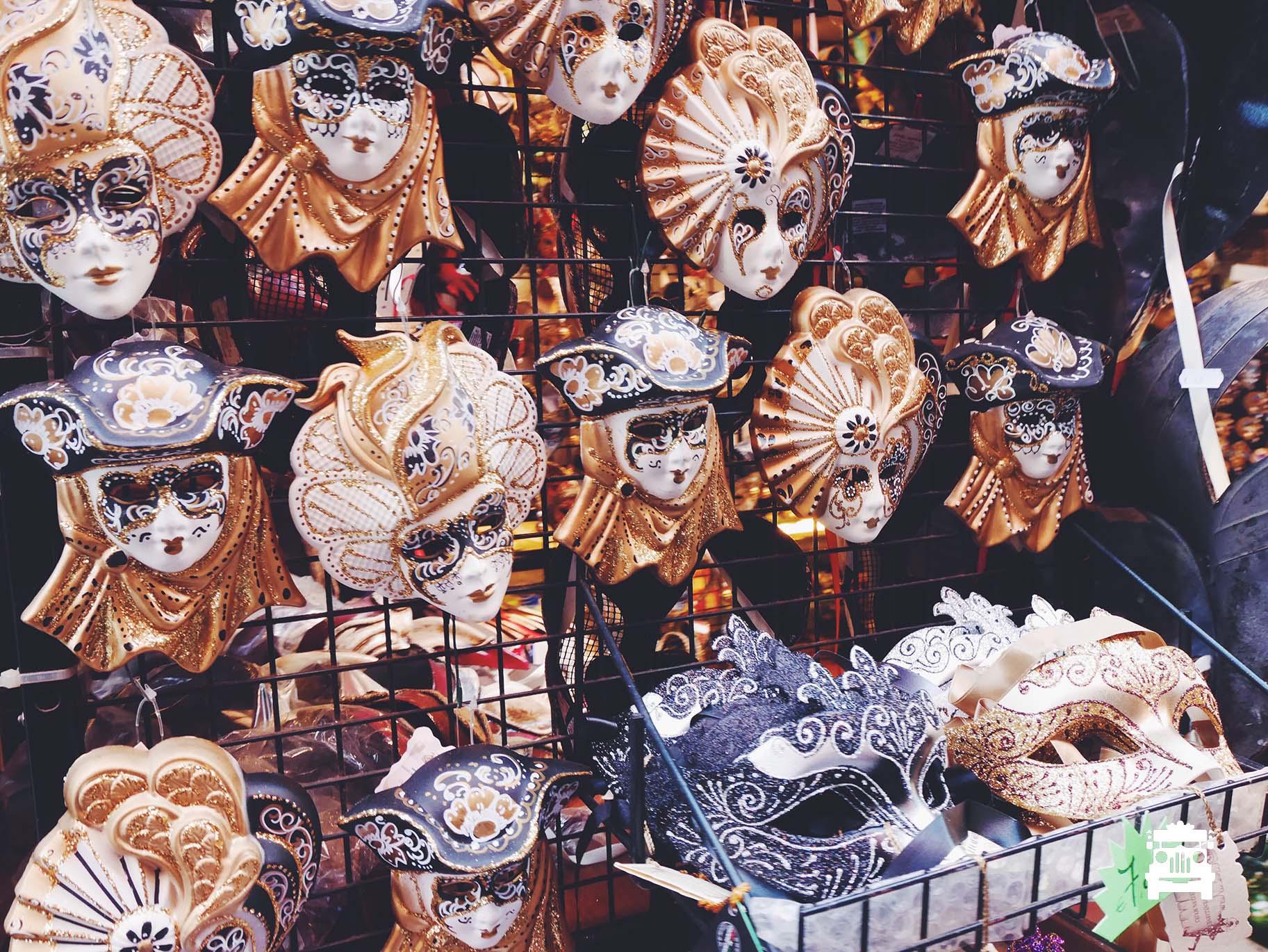 Venetian masks are a plenty