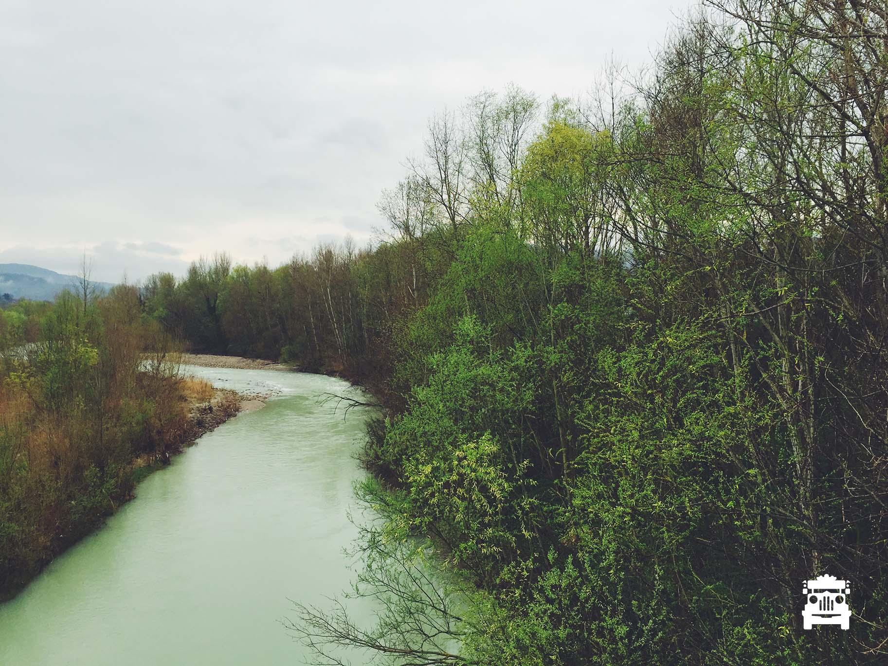 Savio River that crosses the town
