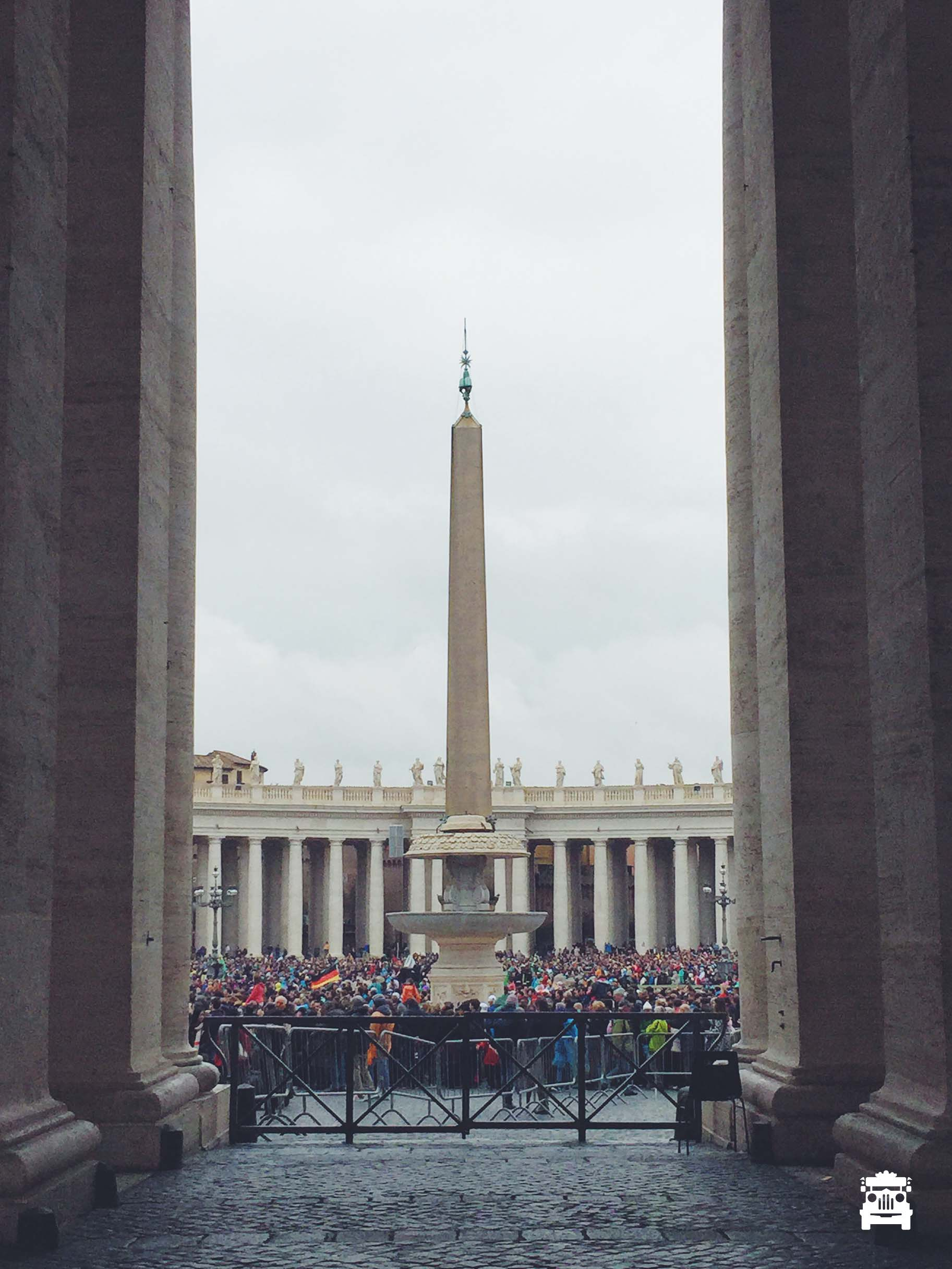 Crowds gathered at St Peter's Square to see the Pope