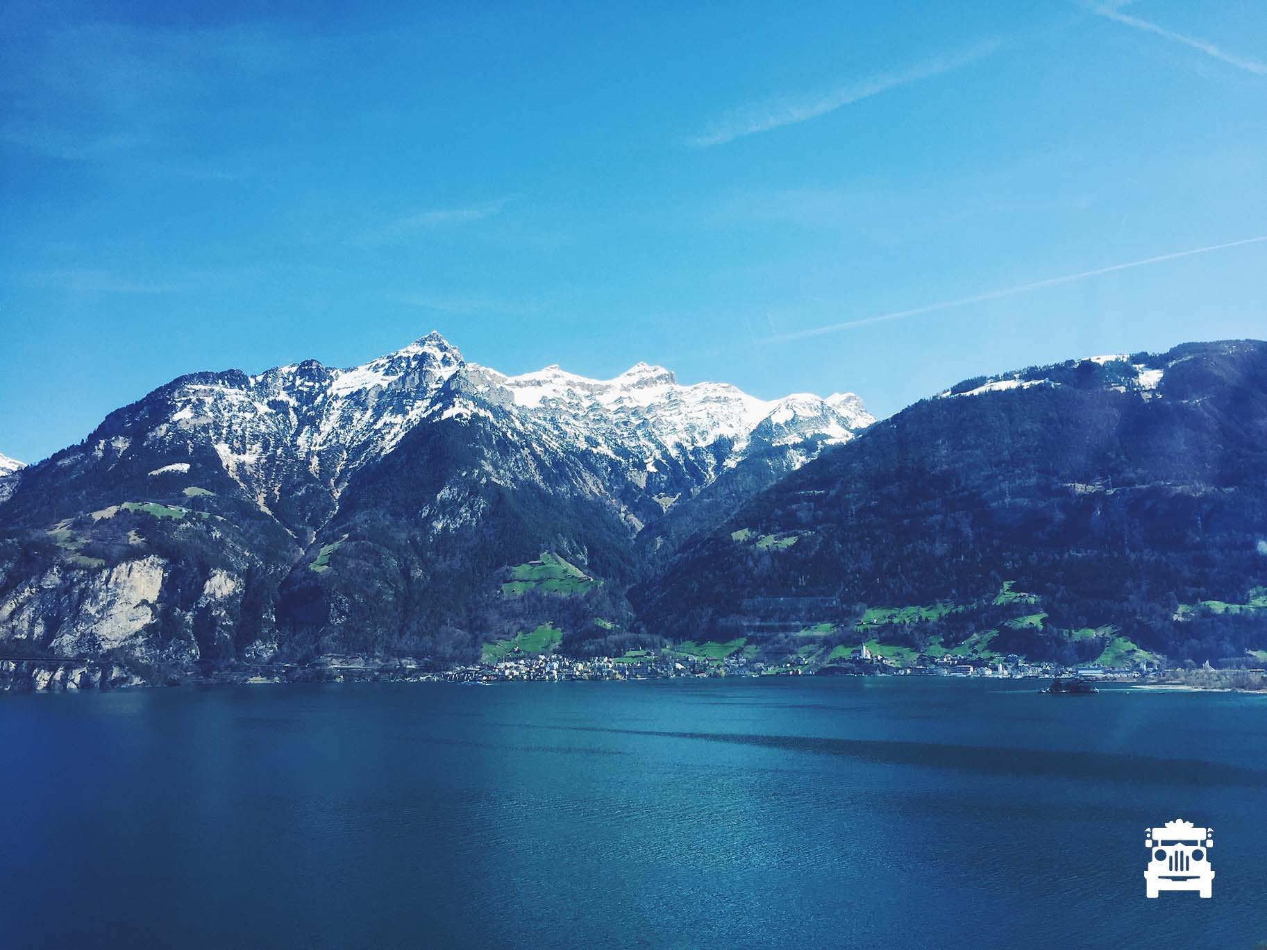 First view of Lake Lucerne!