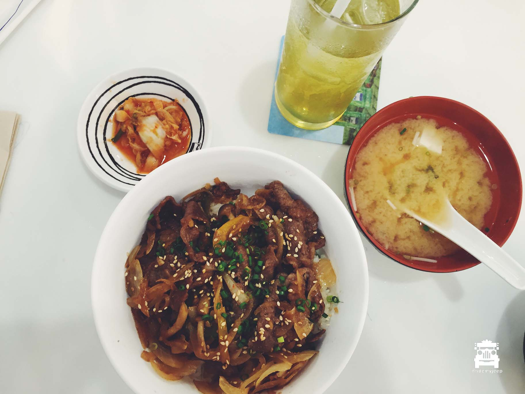 At Fuji Restaurant, gyudon