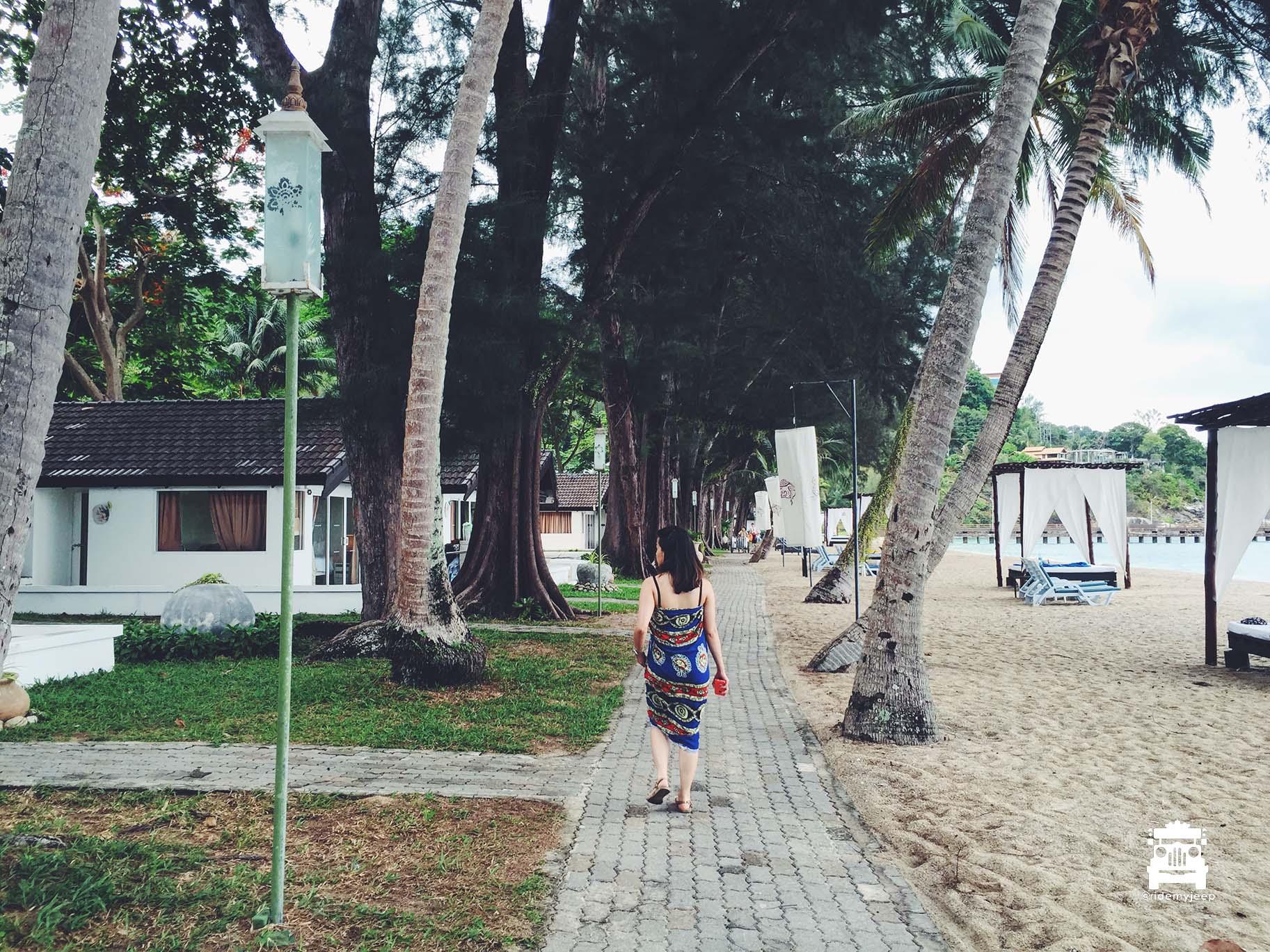 Exploring the resort