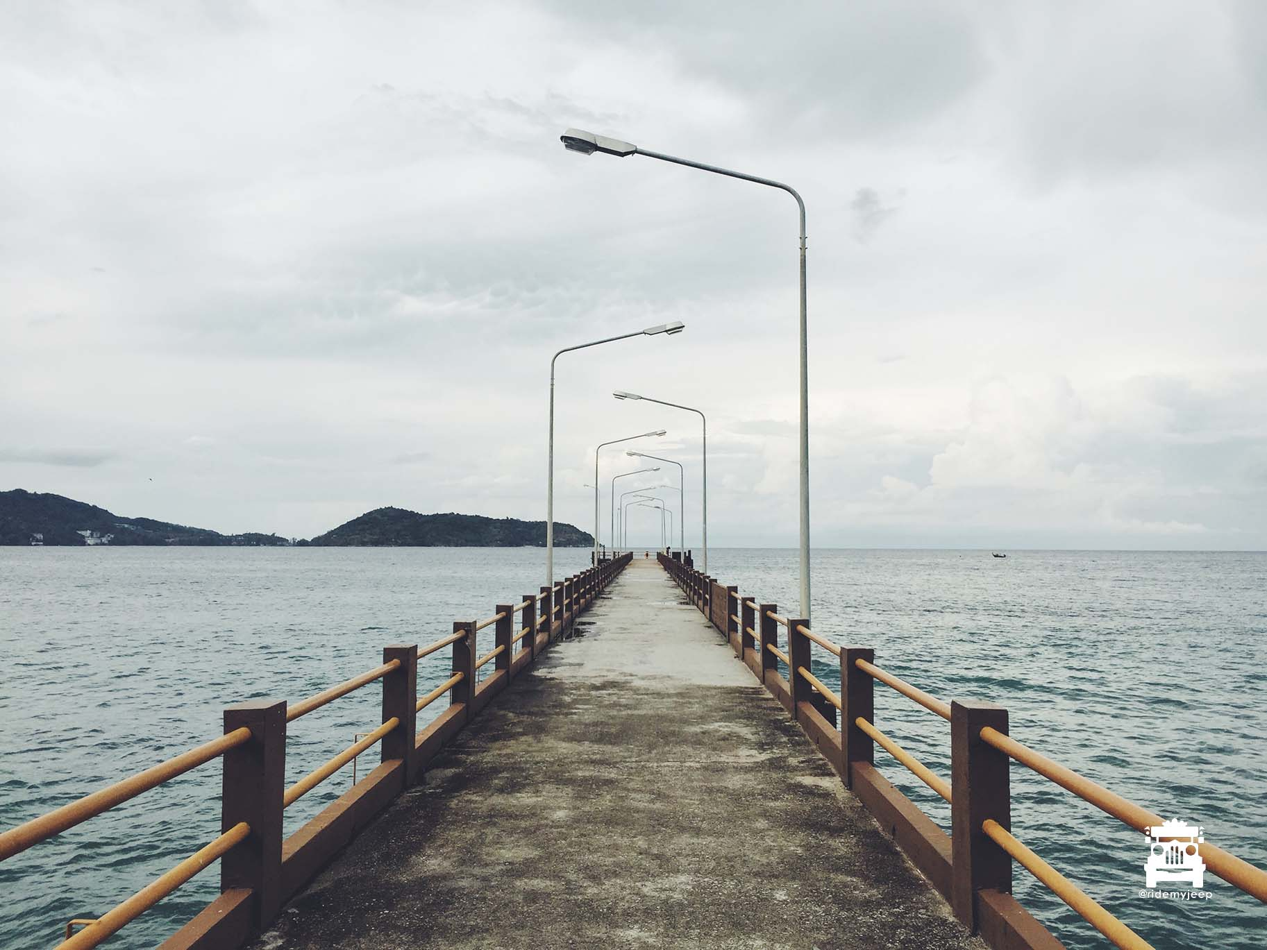 The 'abandoned' pier