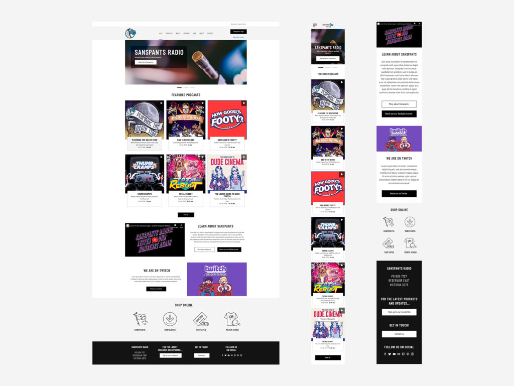 Sanspants Radio Website Designs