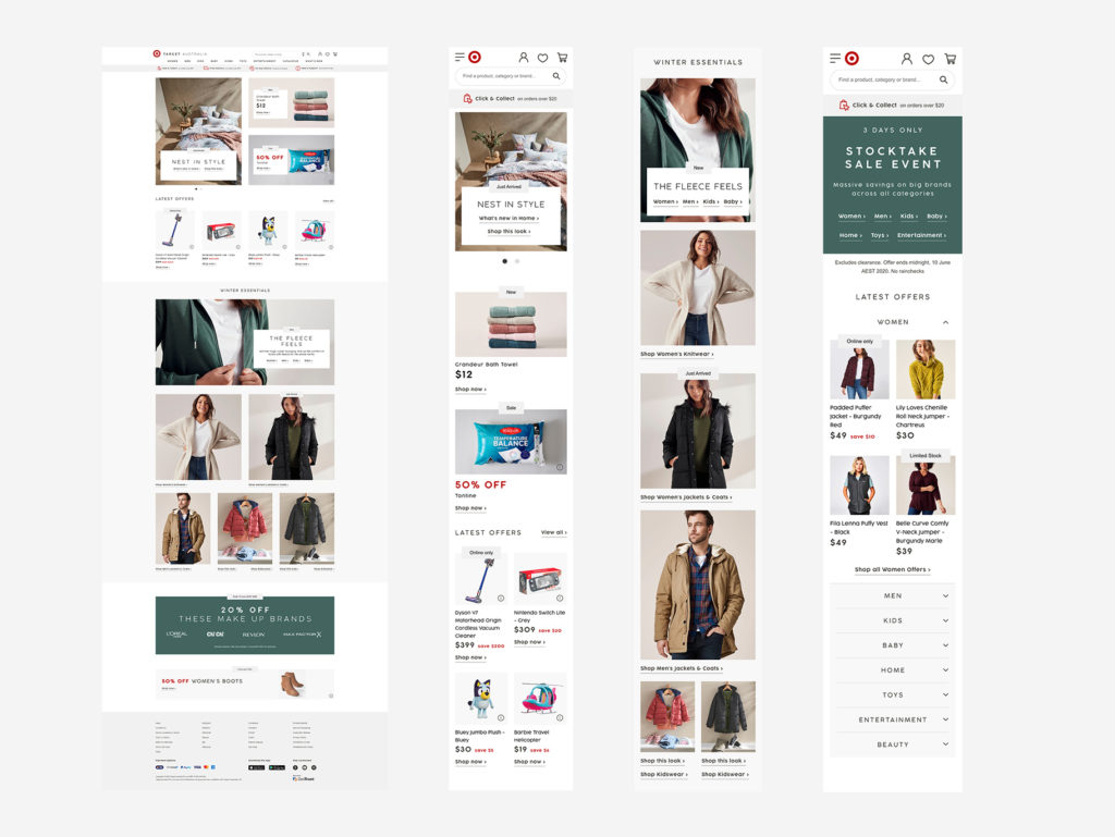 Target Australia Redesign Concepts